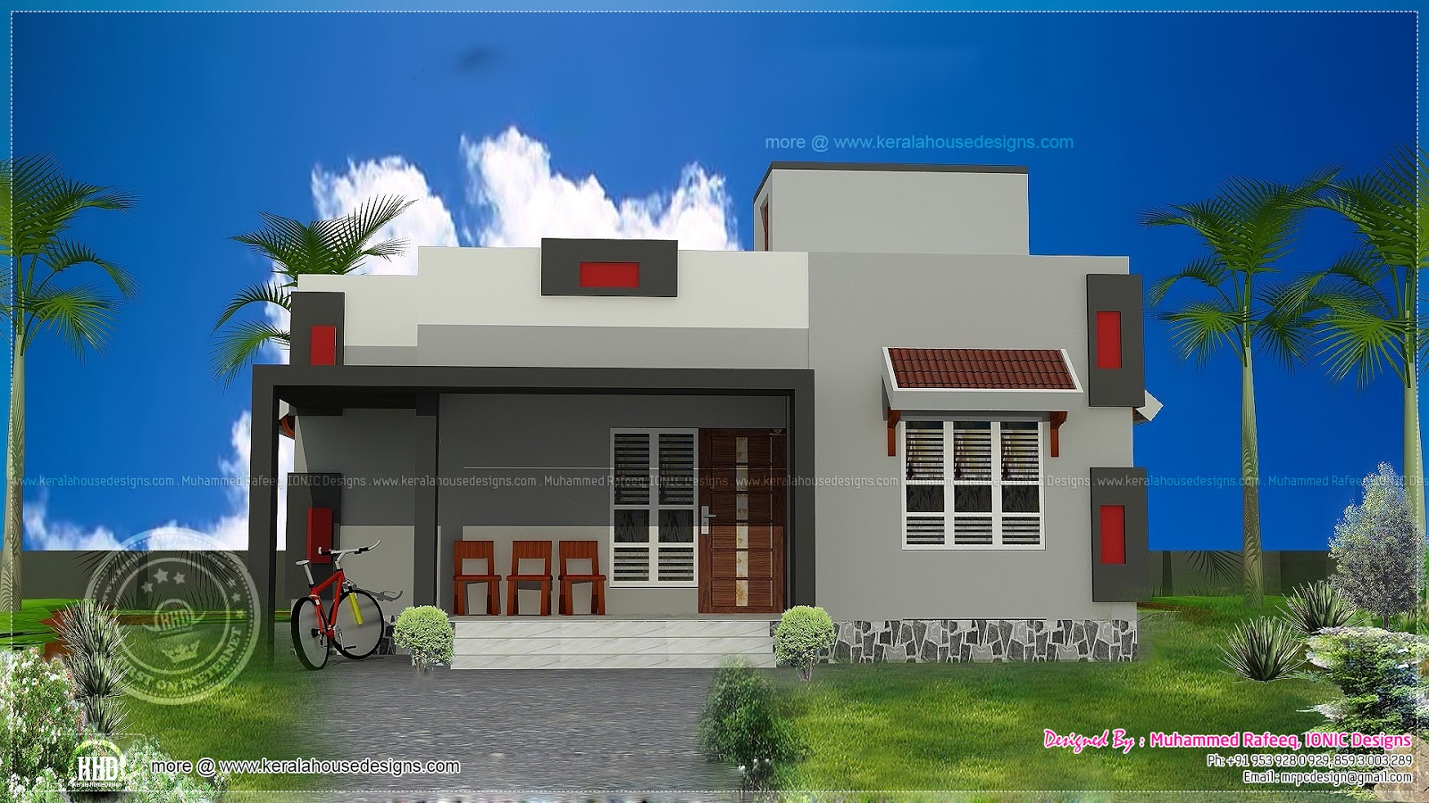 Ground floor house front elevation design 900 sq ft low cost house
