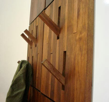 Coat rack wall