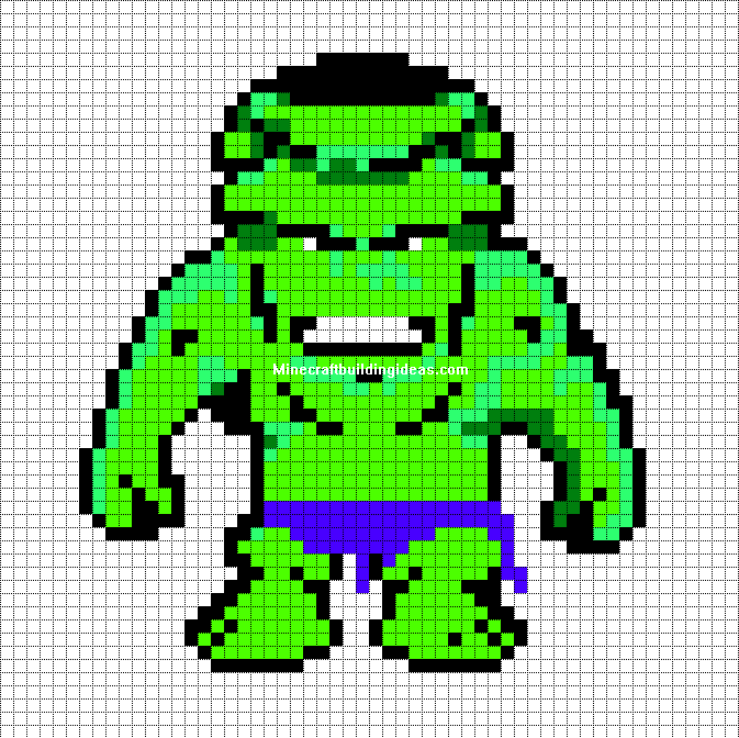 hulk pixel art for - photo #2