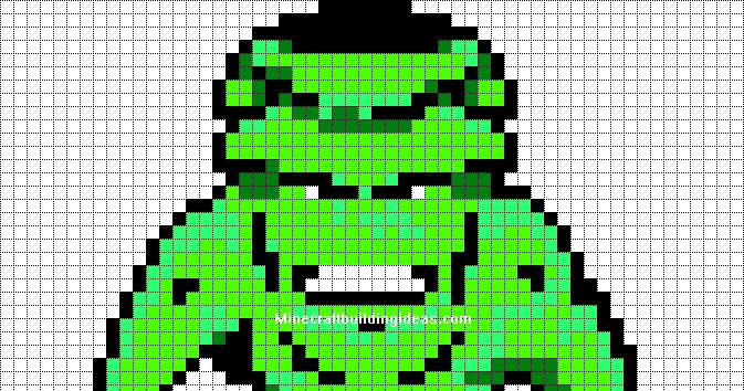 minecraft pixel art templates  hulk