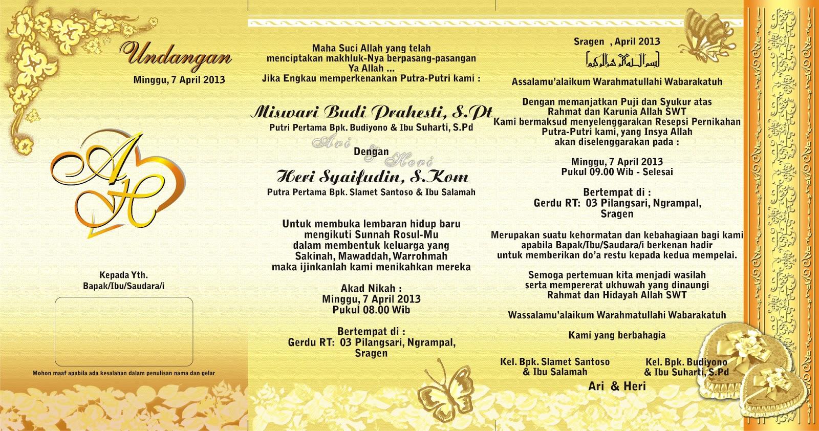 down load desain undangan pernikahan layout psd