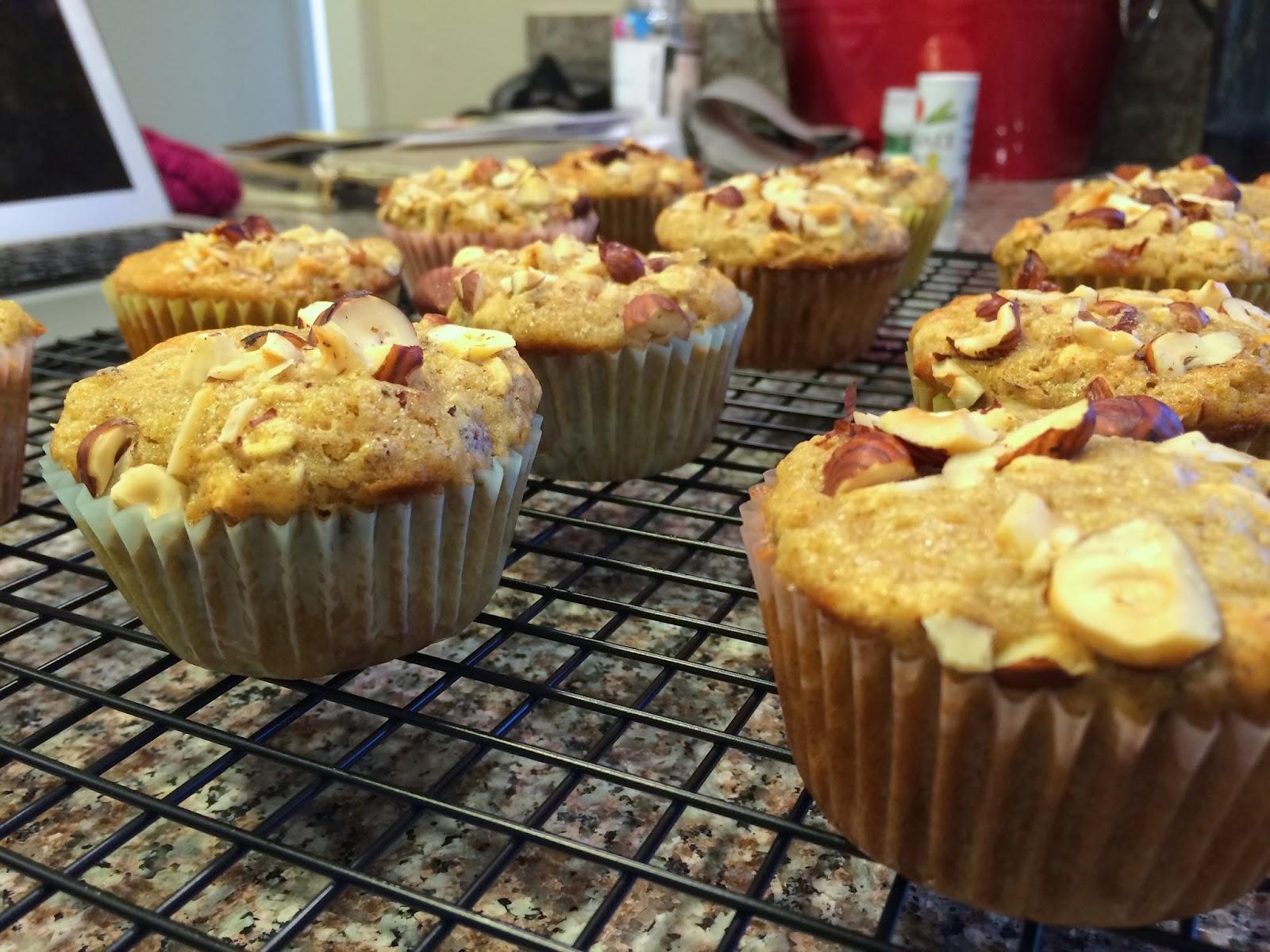 Princess Baker: Pear & Hazelnut Muffins