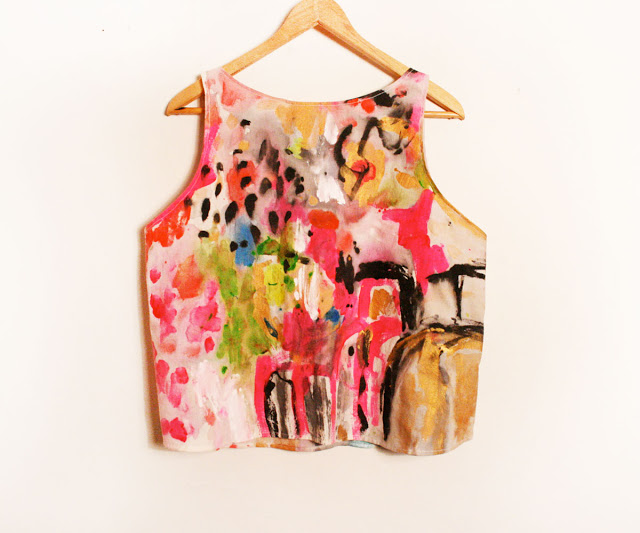 Kindah Khalidy hand painted tank top