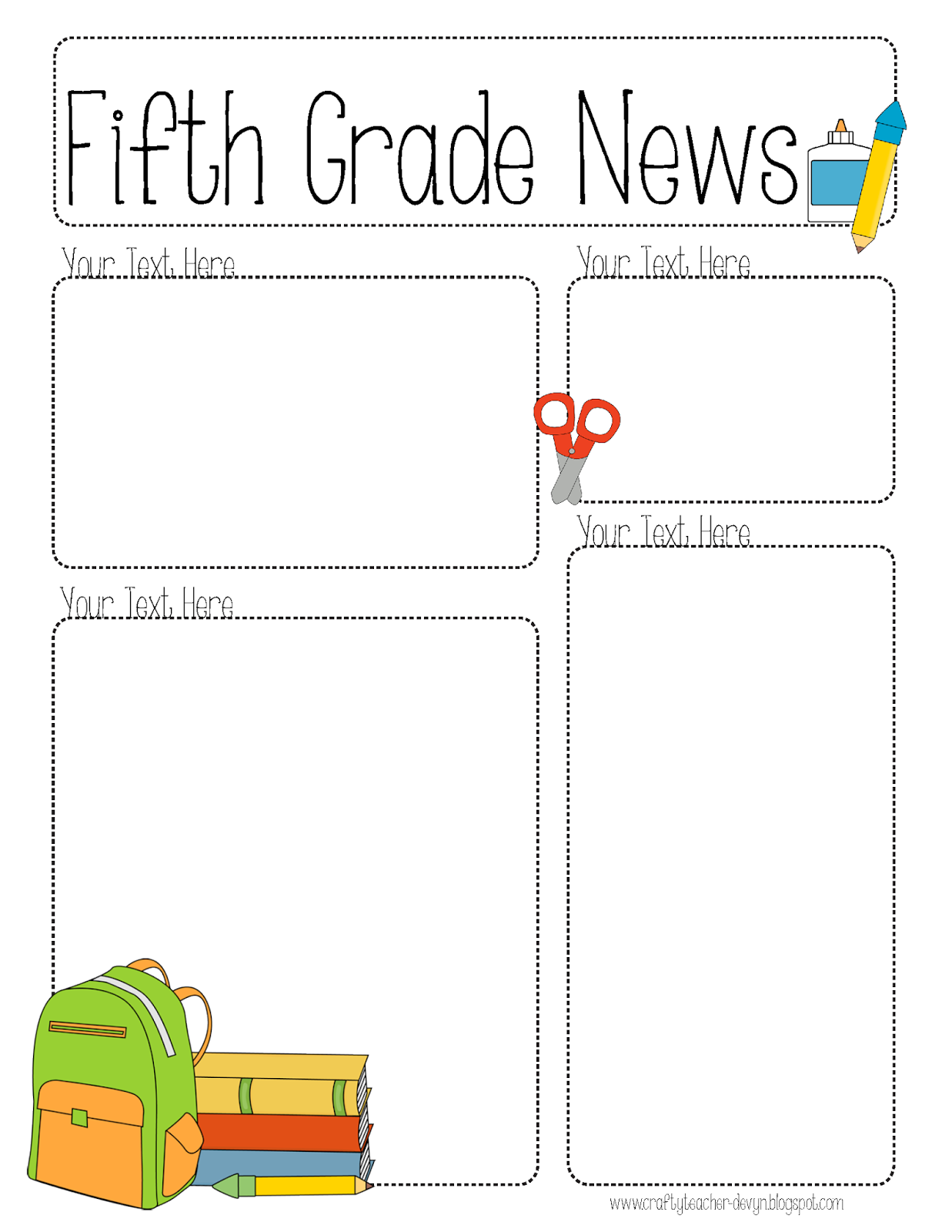 Completely editable newsletter for all grades the for Free editable newsletter templates