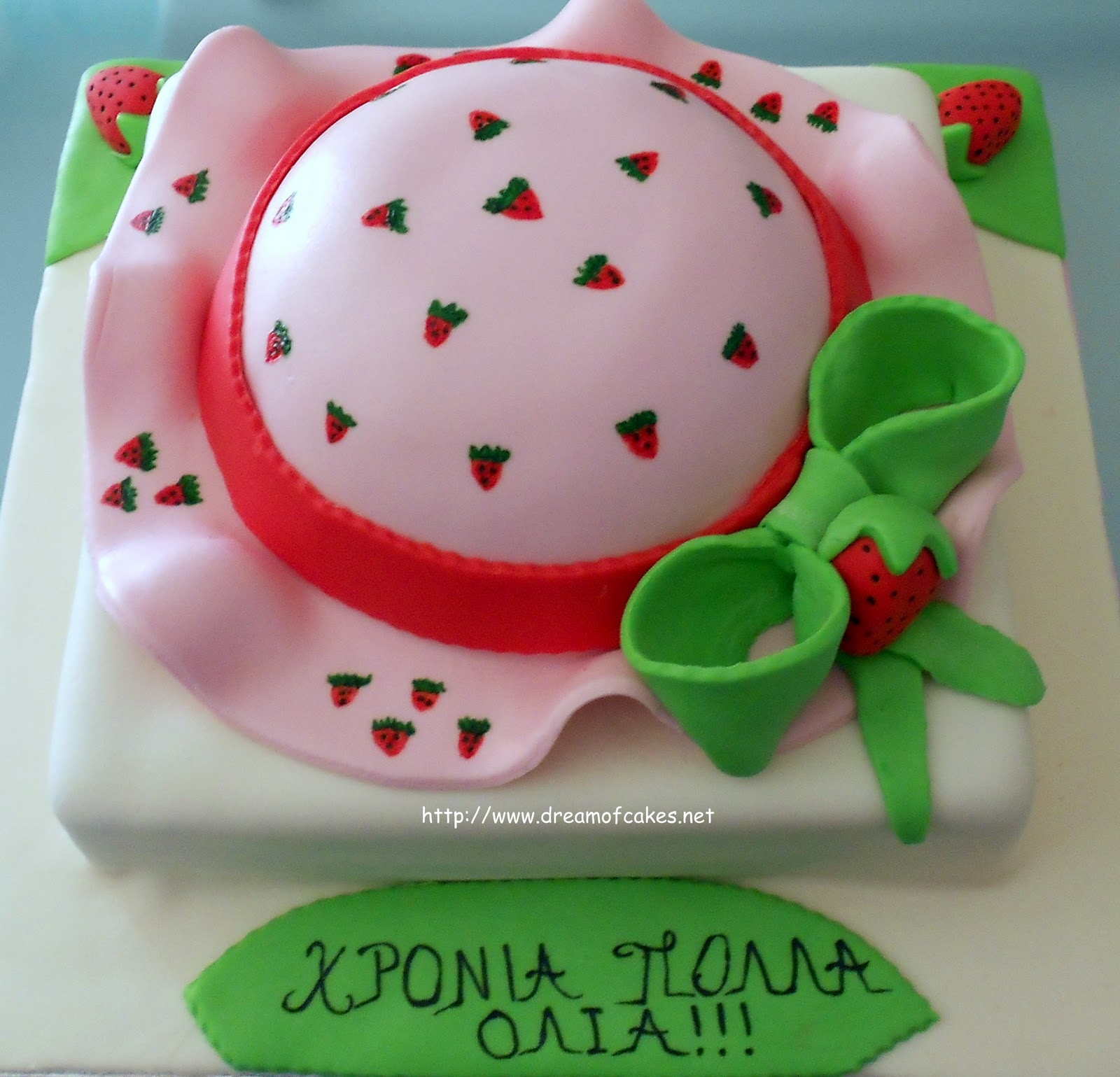 Dream of Cakes: Strawberry Shortcake Cartoon Hat Cake