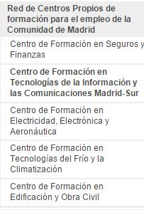 centros FP empleo Madrid