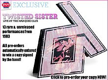 Twisted Sister – Live At The Marquee Club – CD 1983/2011
