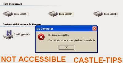 حل مشكلة رسالة (NOT ACCESSIBLE ) عند فتح قرص صلب