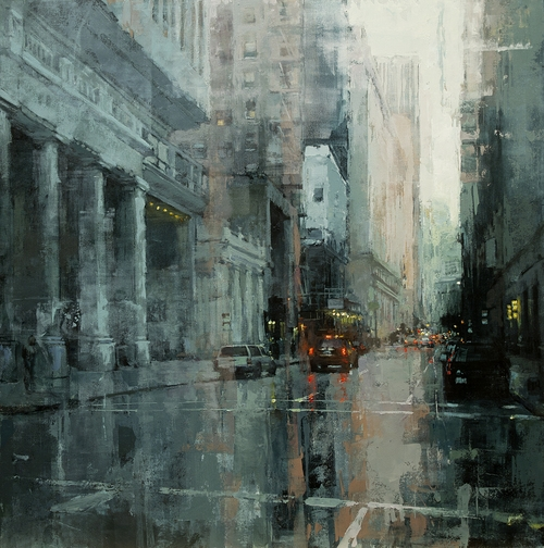 12-Down-the-Montgomery-Jeremy-Mann-Figurative-Painting-in-Cityscapes-Oil-Paintings-www-designstack-co