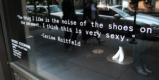 A quote about shoes from Carine Roitfeld.
