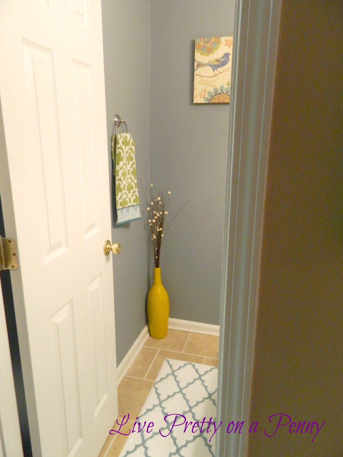 Live Pretty On A Penny Budget Half Bath Makeover