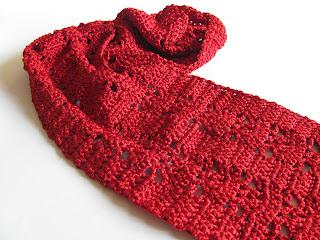 шарфик, блины, шарфик крючком, красивый вязаный шарфик