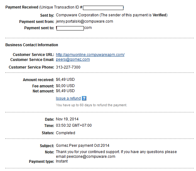 2 nd payment gomezpeer