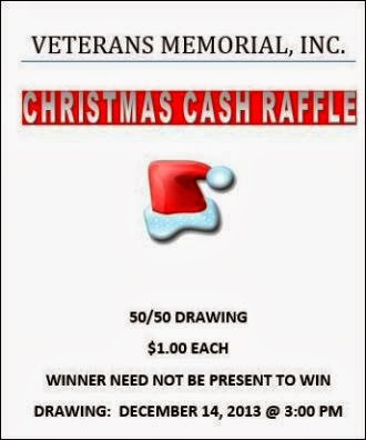 12-14 Christmas Cash Raffle