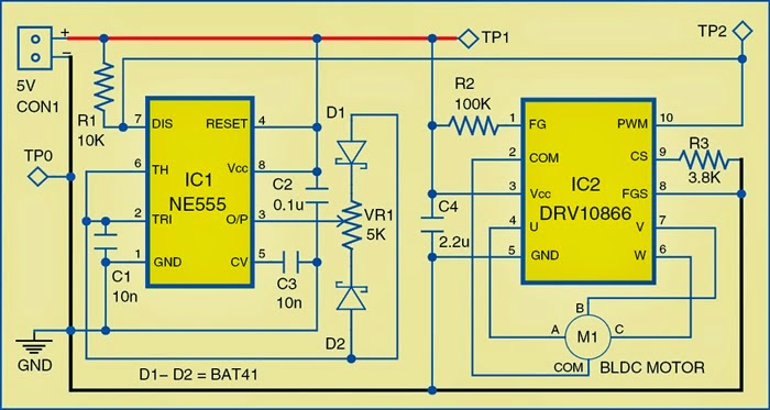 Brushless DC Motor Driver Circuit Diagram | Expert Circuits on lawn mower switch wiring diagram, dual voltage 3 phase motor wiring diagram, electric motor winding diagram,