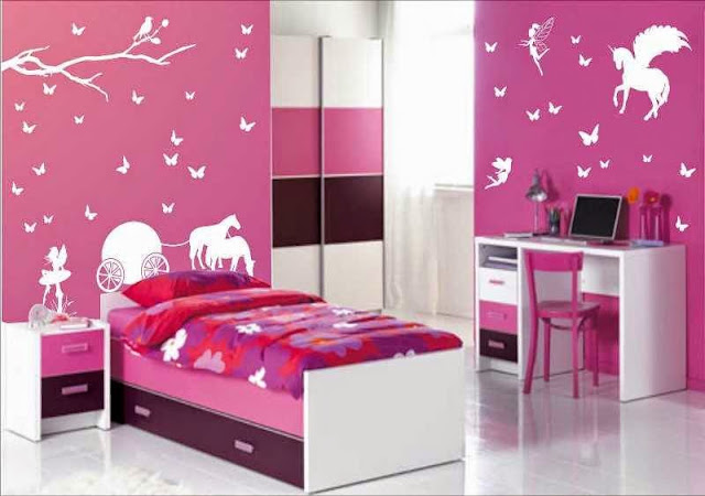 Gambar Kamar Tidur Sederhana warna Pink