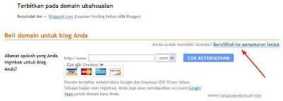 alih domain blogspot ke dot tk