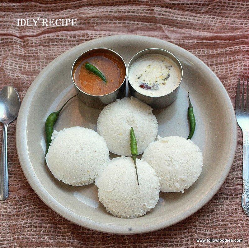 Home made soft Idli Recipe , with Homemade Idli Dosa Batter