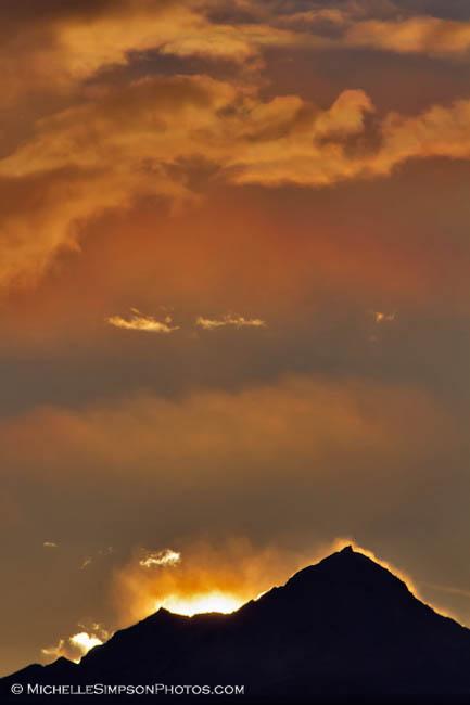 Fiery Silhouette - Homer, Alaska