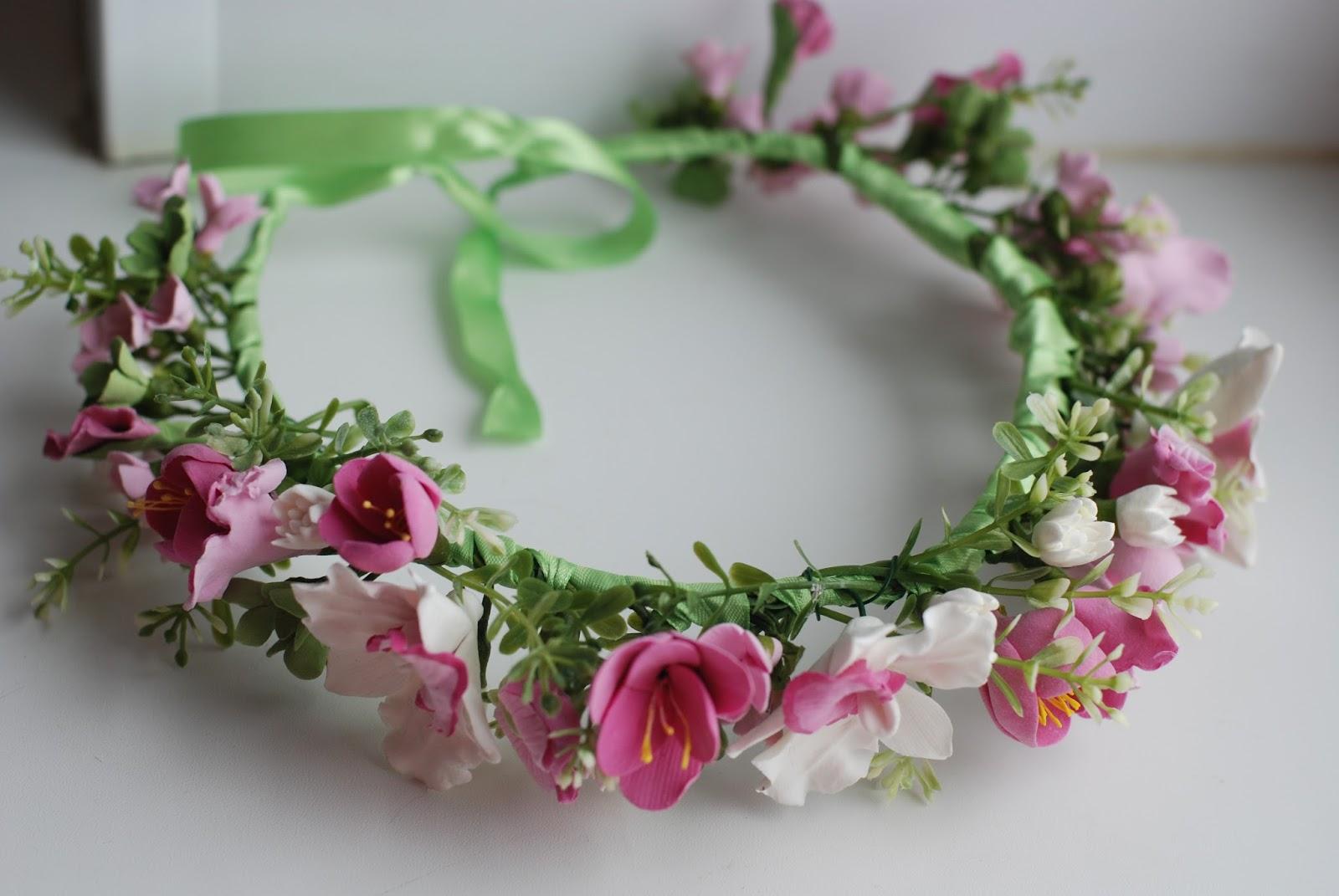 Венки на голову из искусственных цветов на голову своими руками