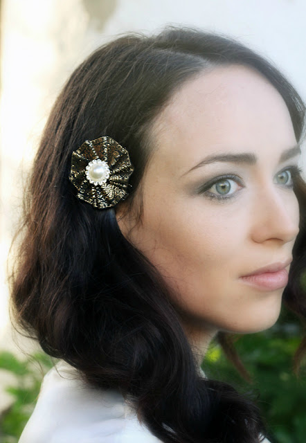 catherine masi - 1920s inspired bridal headpieces summer 2013 collection (model Arielle Kent)
