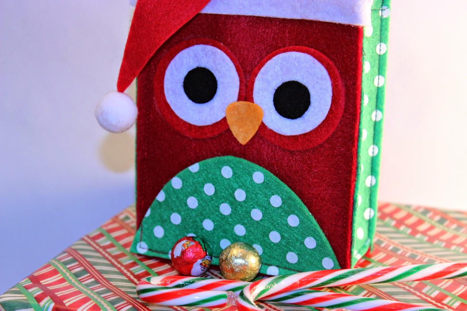 Lillian Vernon, treat holders, Christmas Treat Bags, Christmas Owls