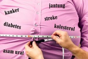 cara menurunkan kolestrol dan perut buncit secara alami