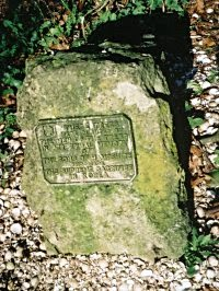 A stone in Dead Man's Wood.