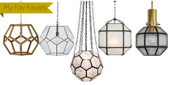 Simply smitten by kristin kerr for Dodecahedron light fixture
