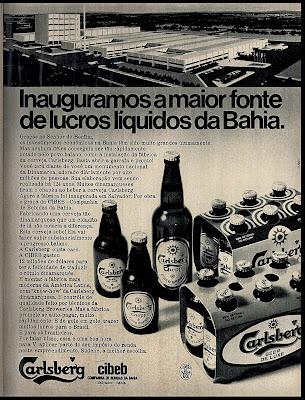 propaganda cerveja Carlsberg - 1971,  os anos 70; propaganda na década de 70; Brazil in the 70s, história anos 70; Oswaldo Hernandez;