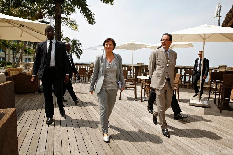 Journées chargées d'Annick Girardin en Afrique de l'Est