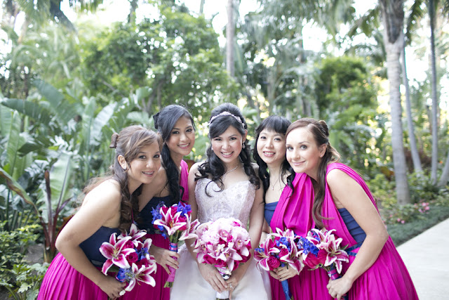 Bride and Bridesmaids - Disneyland Wedding {Sarina Love Photography}