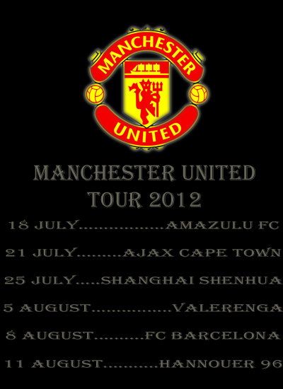 Manchester United Tour 2012, Man Utd Tour 2012