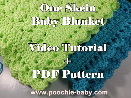 Raising Mimi @PoochieBaby: One Skein Baby Blanket Crochet ...