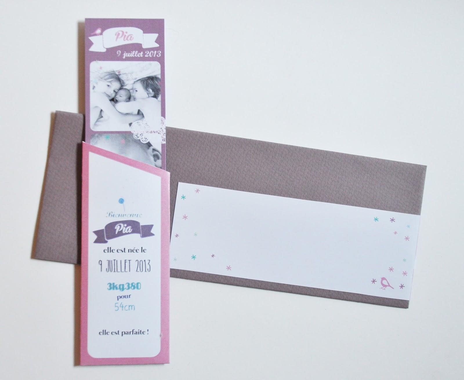 arr te de r ver faire part rose violet et taupe un photomaton dans une pochette pour pia. Black Bedroom Furniture Sets. Home Design Ideas