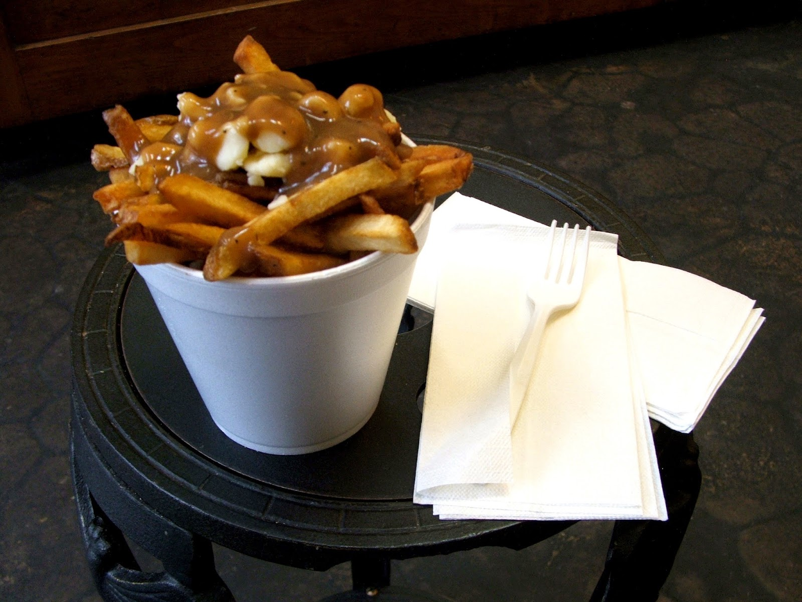 Poutine at Fritz Frie House Vancouver CA photo by PerryPlanet at wikimediacommons