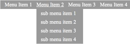 Pure CSS Horizontal Menu