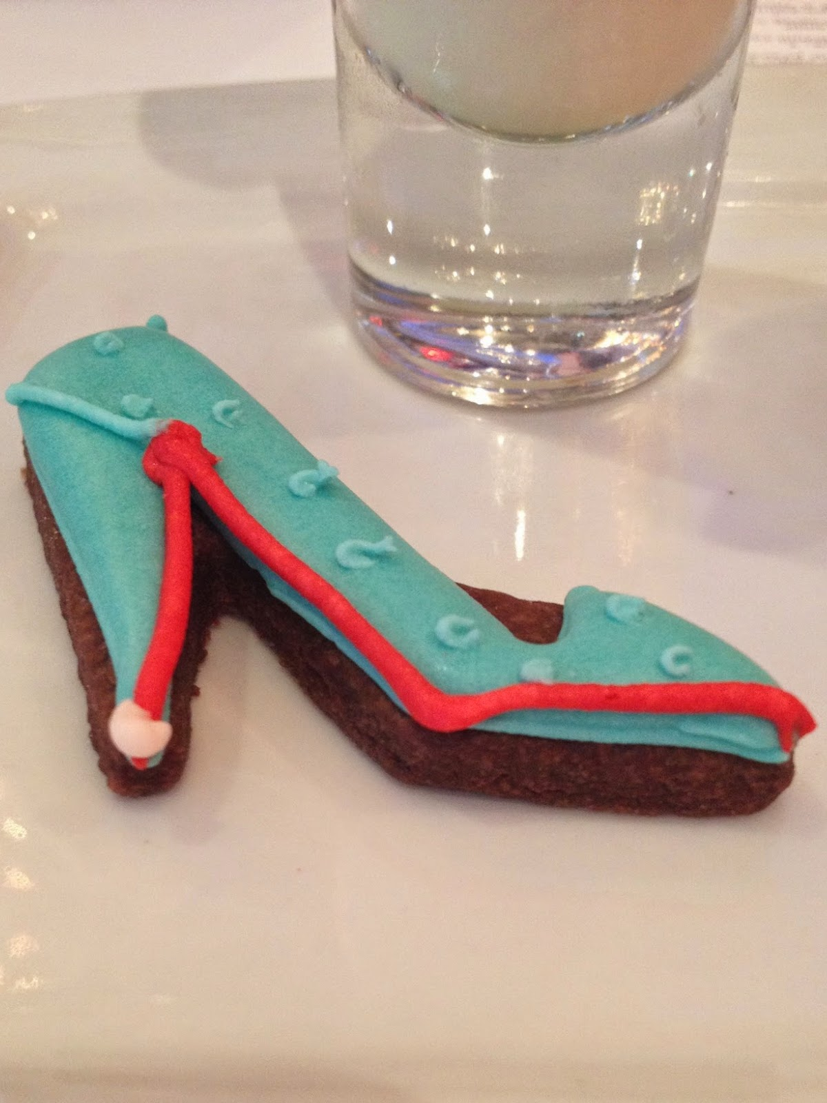 Shoe biscuit for afternoon tea