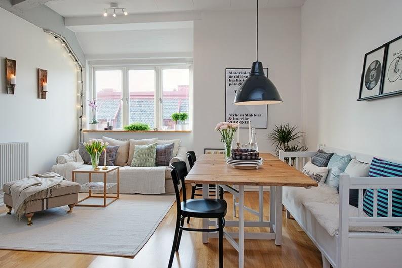 apartamento dúplex de estilo nórdico