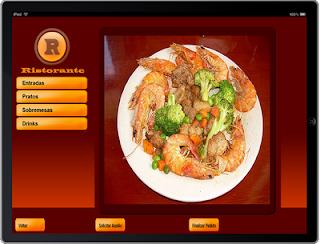 ipad, restaurante, Cardápios, app, aplicativo culinária,