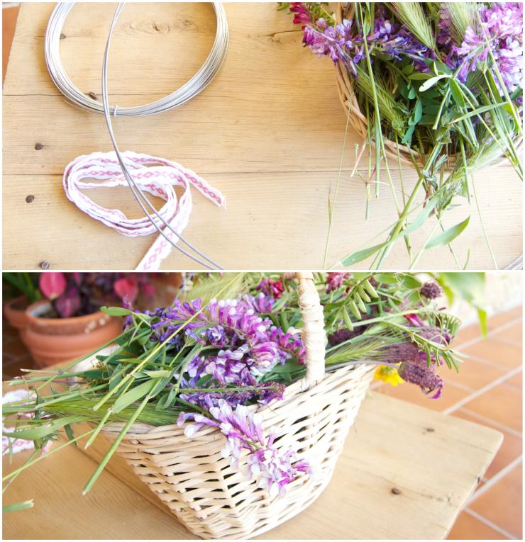DIY, Corazon con Flores Silvestres, Ideas para San Valentin