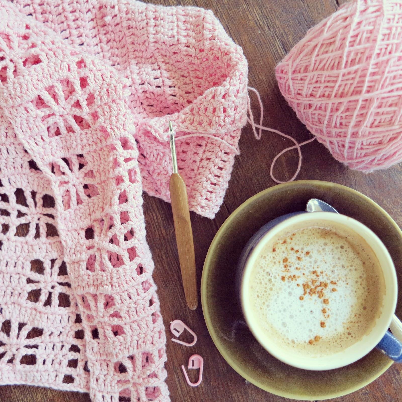 byHaafner, crochet, crochet market bag, pink, coconut cappuccino