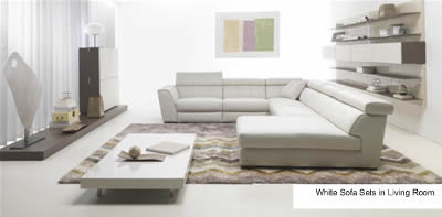 White Sofa Sets in Living Room
