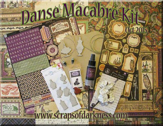 Scraps of Darkness scrapbook kits: Oct 2015 Danse Macabre - our annual Halloween kit
