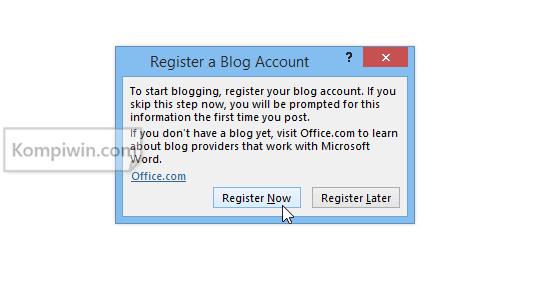 Blogger: Cara Menulis dan Menerbitkan Postingan Blog di Microsoft Word 3