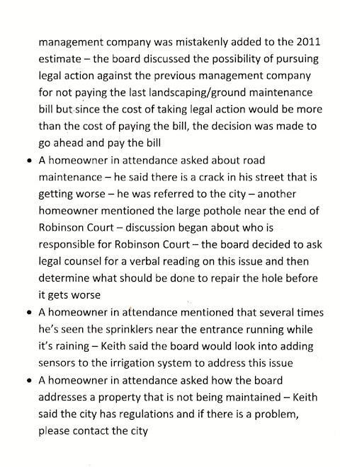 HOA MINUTES PAGE 5