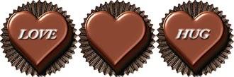 ハート型のバレンタインチョコの無料イラスト