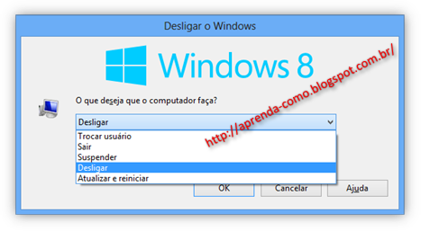 Desligar Windows 8