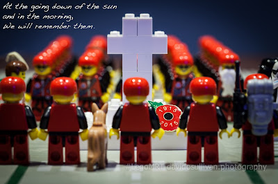 Lego Mountain Rescue Team. Remembrance Sunday. We Will Remember Them