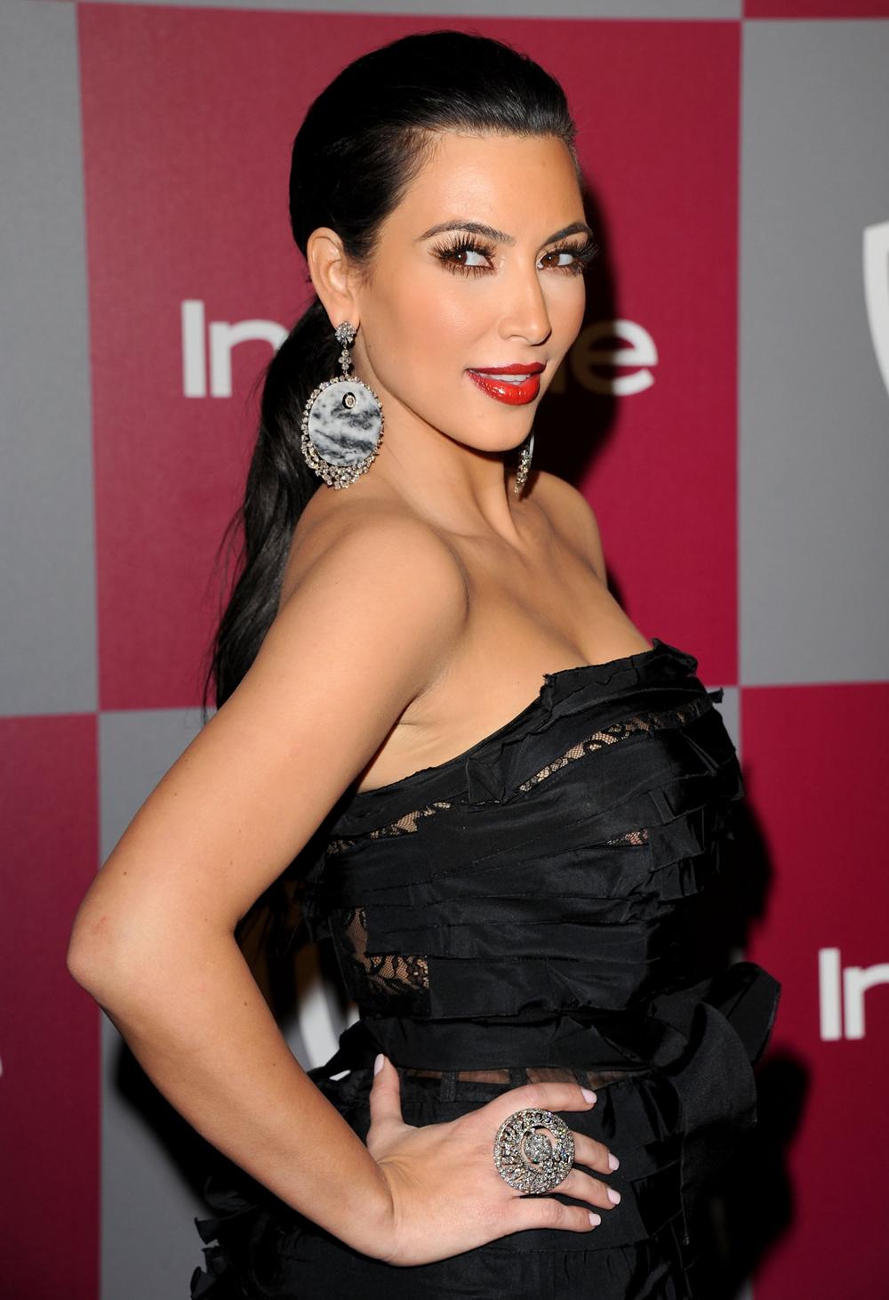 Kim Kardashian Ponytail Hair 02